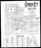 Index Map and Street Index, Baker City 1903
